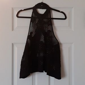 Free People Tops - NWOT Free People Lace Open Back Halter Top
